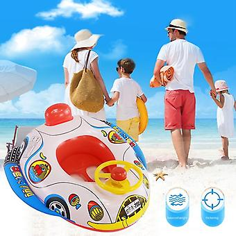 Summer Inflatable Float Mattress Child Swim Pool Water Cartoon Seat Car Trainer