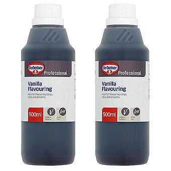 2 x 500ml Dr Oetker Vanilla Essence Baking Flavour Concentrate Cakes Biscuits