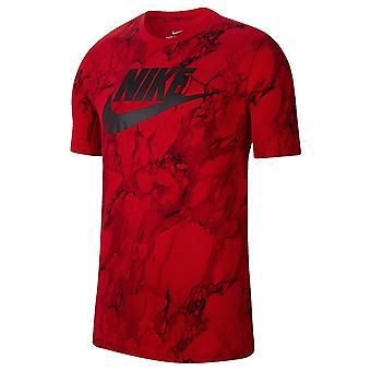 Nike Fran Swoosh Aop CD1282657 universal ympäri vuoden miesten t-paita