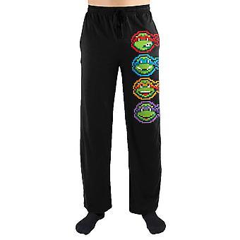Teenage mutant ninja turtles tmnt face print men's loungewear lounge pants