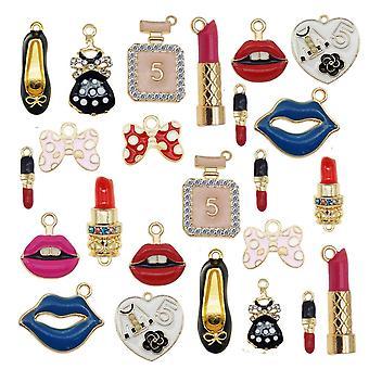 Legering Gemengde Lippen lippenstift schoenen hanger Email Charmes