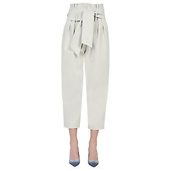 Iro Wp23ritokiebei3721s Women's Grey Cotton Pants
