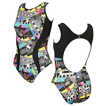 Maru Womens Test Card Sparkle Swimming Costume Clip Back Swimsuit FS6083 RW125