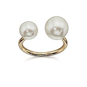 Fiorelli Fashion Gold Plaqué Glass Pearl Open Ring Fiorelli Fashion Gold Plaqué Glass Pearl Open Ring Fiorelli Fashion Gold Plaqué Glass Pearl Open Ring Fiorelli