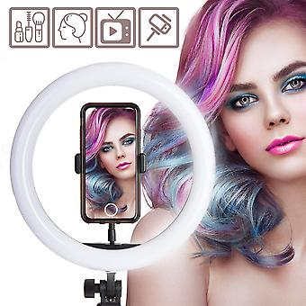 Usb ring light 12 inch with tripod stand dimmable, multi adaptable ring light with smartphone adapte