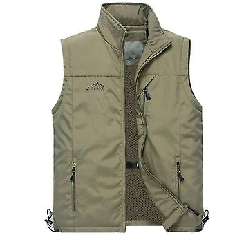 Summer Mesh Thin Multi Pocket Vest For Male, Casual, Sleeveless Jacket With