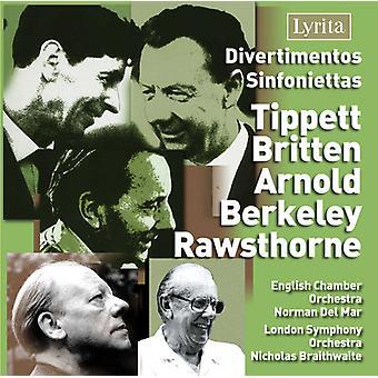 Divertimentos & Sinfoniettas - Divertimentos, Sinfoniettas by Tippett, Britten, Arnold, Berkeley, Rawsthorne [CD] USA import