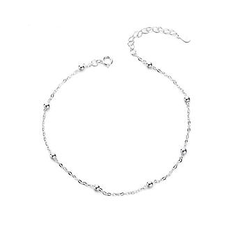 Summer Sterling Silver Chain Anklets, Beach Party Beads, Jewelry Best