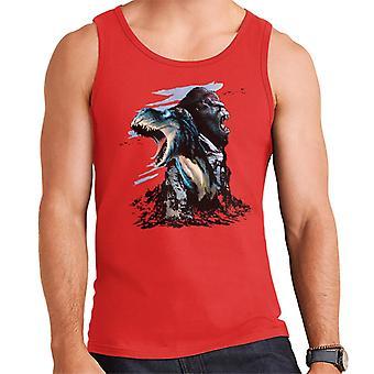 King Kong Vs T Rex Character Heads Men's Vest