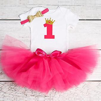 Pieni Vauva ensimmäinen syntymäpäivä juhlamekko, Söpö Tutu asut, Vauvan mekot