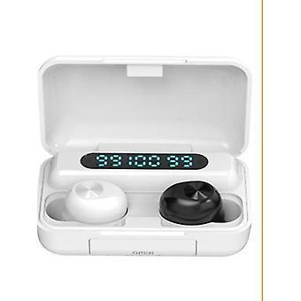 אוזניות Bluetooth אלחוטיות ספורט עמידות למים עם מיקרופון וצג LED