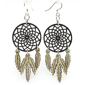 Dreamcatcher With Feather Earrings