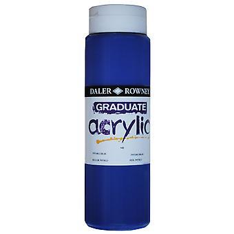Daler Rowney 123500143 Graduate Acrylic Paint 500ml Phthalo Blue