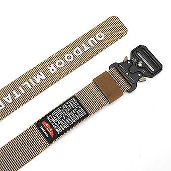 125-140 Long Big Size Belt Male Tactical Military Canvas Belt