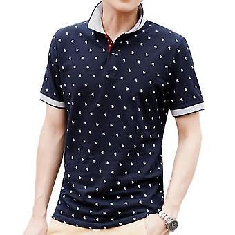 Férfi felsők nyári póló rövid ujjú, stand gallér férfi ruházat