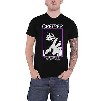 Creeper T Shirt Infinite Void Band Logo new Official Mens Black