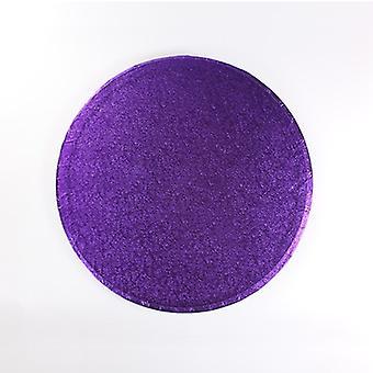 12&(304mm) Cake Board Round Purple - Singel