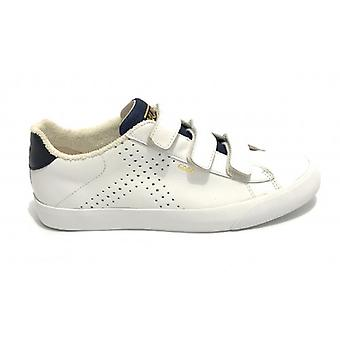 Shoes Munich Sneaker Godò Leather Color White/ Men's Blue With Strap U20mu19