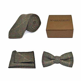 Verificação patrimonial Moss Green Bow Tie, Tie & Pocket Square Set | Caixa
