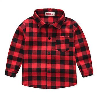 Spring Autumn Long Sleeve Classic Shirts, Tops With Pocket, Baby Casual Kids