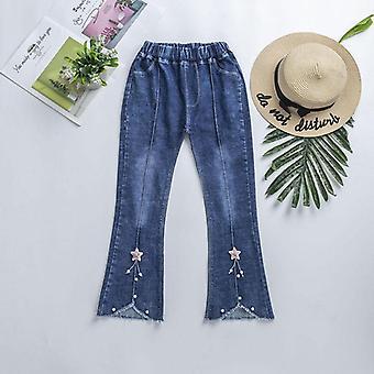 Jeans Pants New Fashion Spring Kids, Pants Elastic Waist Broken Denim Trousers