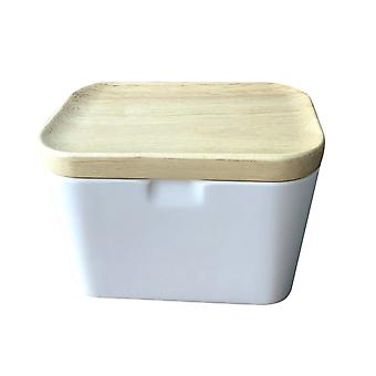 Airtight Storage Container with Wooden Cover, Multifunctional Food Canisters
