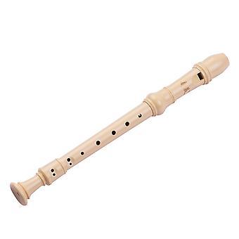Qi mei 8-holes duitse stijl sopraan descant blokfluit fluit met reiniging staaf vinger rust riem pu opbergtas