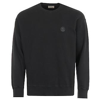 Nudie Jeans Co Lukas Circle Logo Organic Cotton Sweatshirt - Black