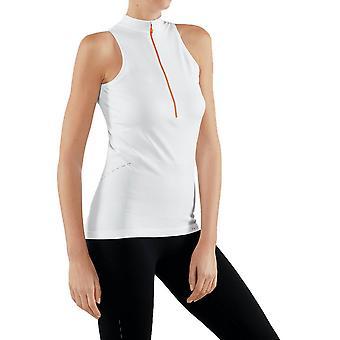 Falke genießen Zip Up T-Shirt - weiß