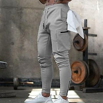 Mens Jogger Sweatpants Man Gyms Workout Fitness Cotton Trousers Male