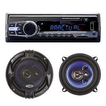 Package Radio MP3 car player PNI Clementine 8524BT 4x45w + Coaxial car speakers PNI HiFi650, 120W, 16.5 cm