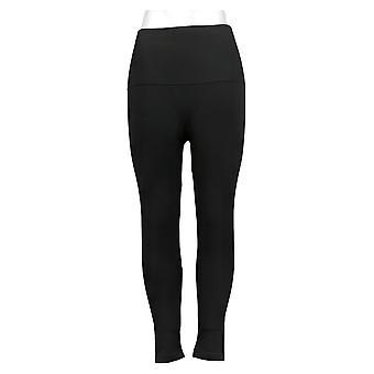 Breezies Women's Shapewear Seamless Tummy Smoothing Legging Black A388306