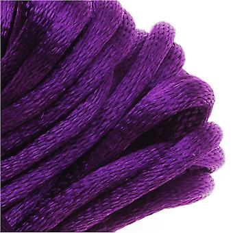 Final Sale - Rayon Satin Rattail 2mm Cord - Knot & Braid - Purple (6 Yards)