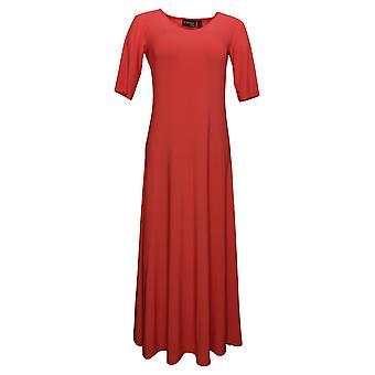 المواقف من قبل رينيه المرأة فستان بيتي الصلبة ماكسي أورانج A375422