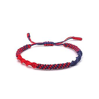 Benava, Tibetan bracelet of Buddhist jewel friendship and metal base, color: Color: red, cod. 0051-Rot
