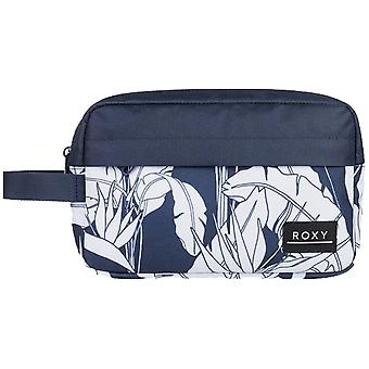 Roxy prachtig wash bag in Mood Indigo Flying Flowers S
