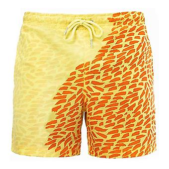 Mens Discoloration Quick dry Beach Swimming Trunks