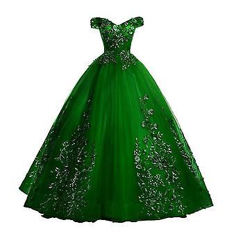 Vestido de festa de renda de luxo fora do ombro ( Conjunto 1)