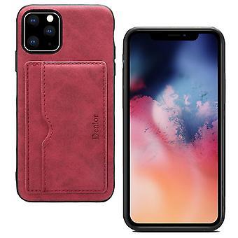 Lompakon nahkakotelo korttipaikka iphone11pro 5.8 punainen no1198