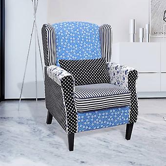 vidaXL fauteuil met patchwork design stof