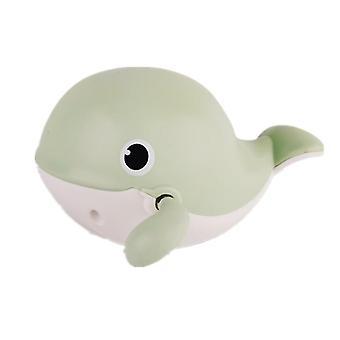 2Pcs الحوت الأخضر حمام الكرتون الحيوان البطريق الحوت الكلاسيكي لعبة مياه الطفل، والفتيات الفتيان الاستحمام اللعب az20758