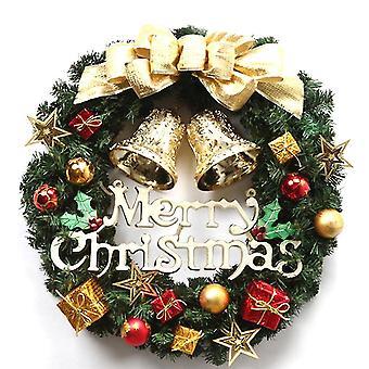 New Christmas Wreath Garland Pine Cone Pendant Xmas Decoration 30cm ES13474