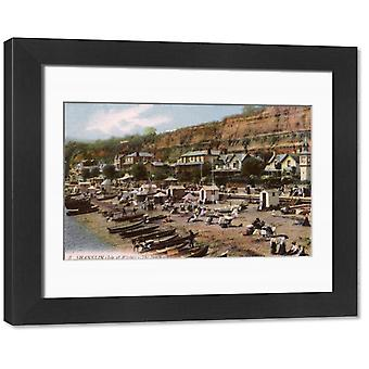 The Beach at Shanklin, Isle of Wight, Hampshire, England. Framed Photo. The Beach at Shanklin,.