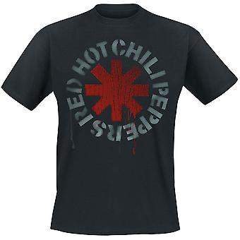 Red Hot Chili Peppers - Stencil Men's Large T-Shirt - Black