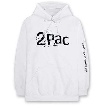 Tupac - I See No Changes Men's Medium Pullover Hoodie - White