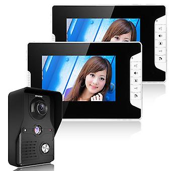 Dörrtelefon Visuell video Intercom Dörrklocka System 2 Bildskärm