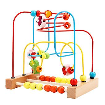 Bead Maze Toy For Toddlers, Wooden Colorful Roller Coaster Toys For Kids