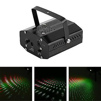 Mini Led R&g Laser Projetor De Iluminação palco Ajuste Dj Disco Party Club
