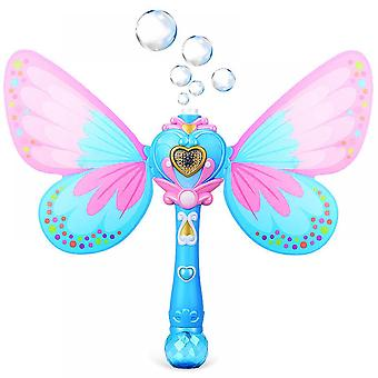 Magic Bubble Wand Blower Musical Light Up Butterfly Bubbles Toy