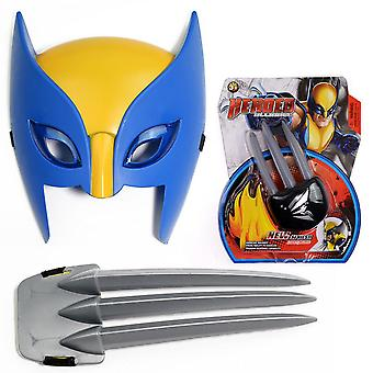 Children's Wolverine Cosplay Costume X-men Mask Animation Party Props
